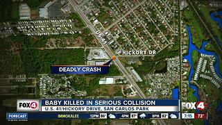 Infant dies in San Carlos Park crash - Video
