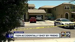 Teenager hospitalized after shot in face by friend - Video