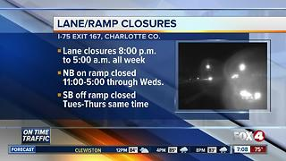 Road work to close lanes, exits at times on I-75 this week - Video