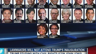 Lawmakers will not attend Trump's inauguration - Video