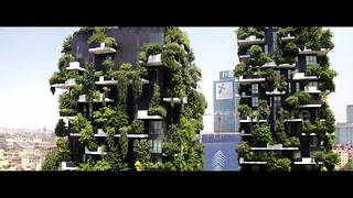 Stunning drone footage of Milan's Vertical Forest skyscrapers