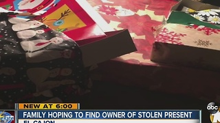 Family searches for owner of trashed presents - Video