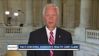 PolitiFact Wisconsin: Johnson's health care claims - Video