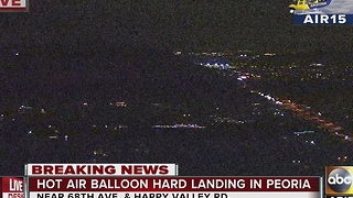 A hot air balloon in Peoria has a hard landing - Video