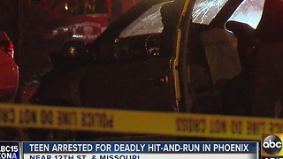 PD: 17-year-old arrested in PHX after deadly car crash - Video