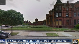 42-year-old man shot in Eutaw Street