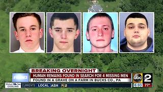 Human remains found in search for 4 missing men in Pennsylvania - Video