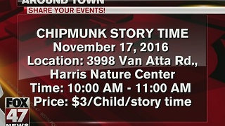 Harris Nature Center hold Chipmunk Story Time - Video