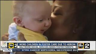 Opioid epidemic strangles Baltimore, pours more children in foster care - Video