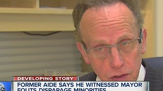 Former aide to Jim Fouts says he witnessed the Warren Mayor make disparaging comments about minorities - Video