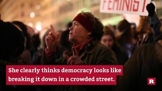 One Grandma Really Knows How to Protest to a Beat | Rare News - Video