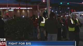 Dozens gather for local Fight for $15 - Video