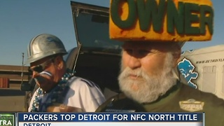 Packers Fans Invade Detroit on New Year's Day - Video