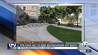 WPB finds way to keep skateboarders off bench - Video