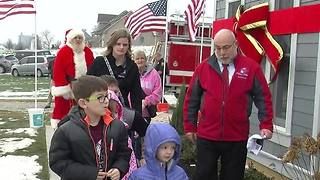 Army veteran honored with new house - Video