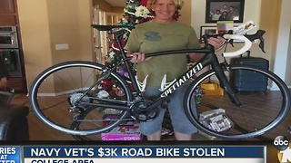 Navy veteran survives horrific bike accident, gets bike stolen - Video