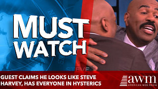 Guest Claims He Looks Like Steve Harvey, Has Everyone In Hysterics - Video