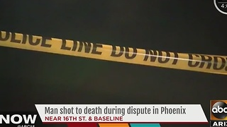 Police: Man shot to death during argument in Phoenix - Video