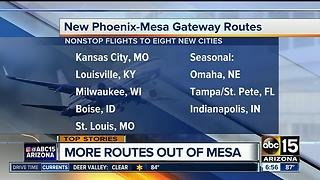 Allegiant offering new routes from Mesa - Video