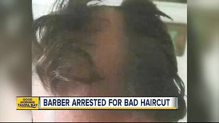 Hairstylist arrested after giving customer a very bad haircut - Video
