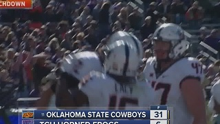 OSU Cowboys dominate TCU Horned Frogs 31-6 - Video