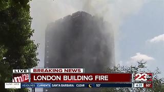 London Apartment Fire Update - Video