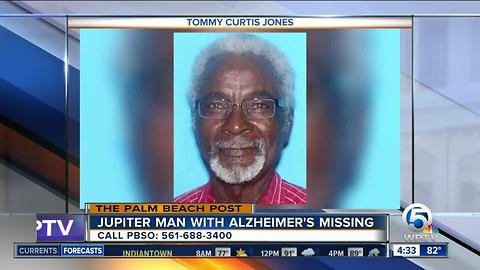 77-year-old man with Alzheimer's missing