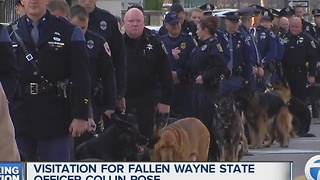 K9 officers and loved ones gather for Officer Collin Rose visitation - Video