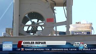 Volunteers needed to repair coolers for low income families - Video