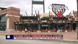 Storms could threaten Metallica concert at Comerica Park - Video