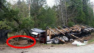 Logging Truck Hits A Bigfoot In Copper Mountain, Canada - Video