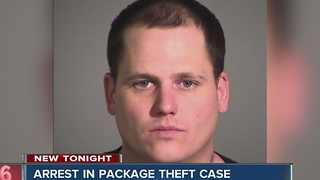 Man arrested for stealing packages off porches - Video
