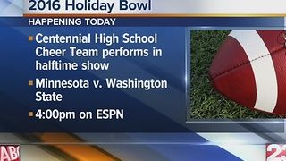 Centennial HS performing at Holiday Bowl - Video