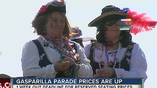 Gasparilla parade prices are up