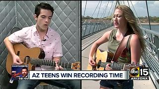 Arizona teens win recording session - Video