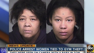 Woman accused of stealing from gyms with 10-month-old in tow - Video