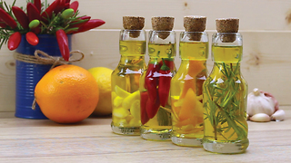How to make homemade flavored oils - Video