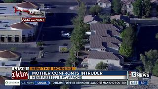 Local mom chases away intruder - Video