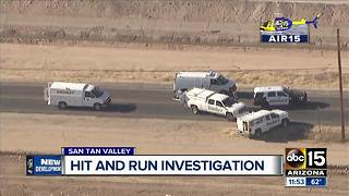 Deadly hit-and-run under investigation on Hunt Highway - Video