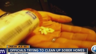Officials trying to clean up sober homes - Video