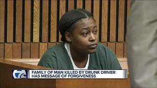 Family of man killed by drunk driver has message of forgiveness - Video