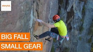 Climber Survives Big Fall With Minimal Gear - Video