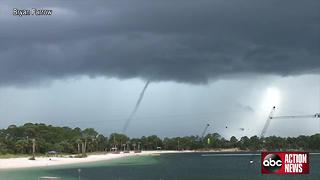 Waterspout forms near Hudson - Video