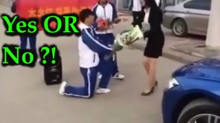 Embarrassed teacher rejects teenage student's inappropriate and bizarre marriage proposal at school - Video