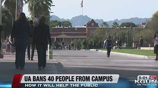 UA releases list of people banned from campus - Video