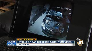 String of Car break-ins caught on video in El Cajon - Video