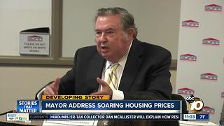 Mayor addresses soaring housing prices - Video