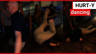 Man does back flip and knocks himself out