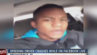 Man crashes while streaming 114 mph drive on Facebook Live - Video