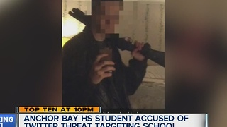 Anchor Bay High School student accused of Twitter threat targeting school - Video